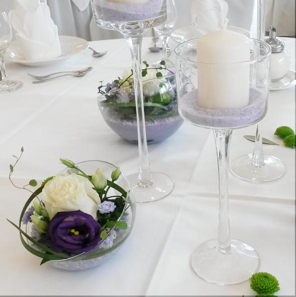 Blumen kolb tischschmuck for Floristik tischdeko